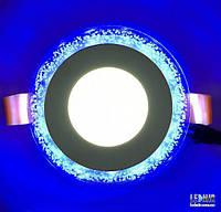 Светодиодный светильник Lemanso Круг Бульбашки 3W+3W, синий (LM906)