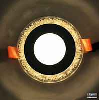 Светодиодный светильник Lemanso Круг Бульбашки 3W+3W, желтый (LM906)