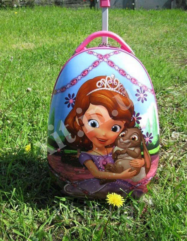 """Детский чемодан 16"""" на колесах Принцесса София"""