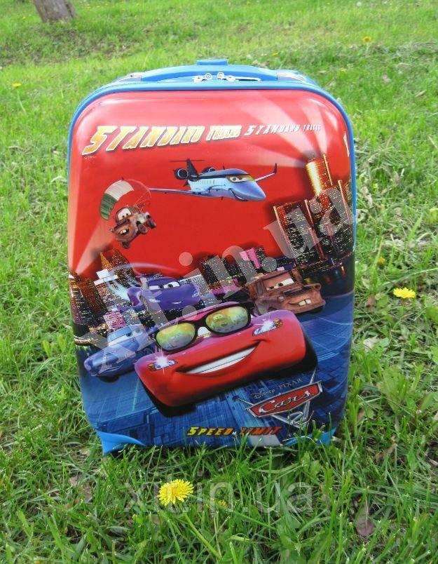 "Детский чемодан 16"" на колесах Cars Тачка Молния ( МакКуин)"