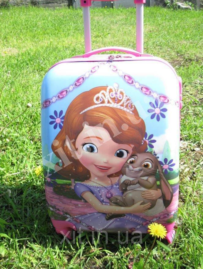 """Детский чемодан 18"""" на 4 колесах Принцесса София"""