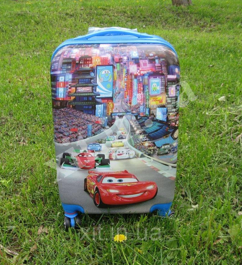 "Детский чемодан 20"" на 4 колесах Тачки"