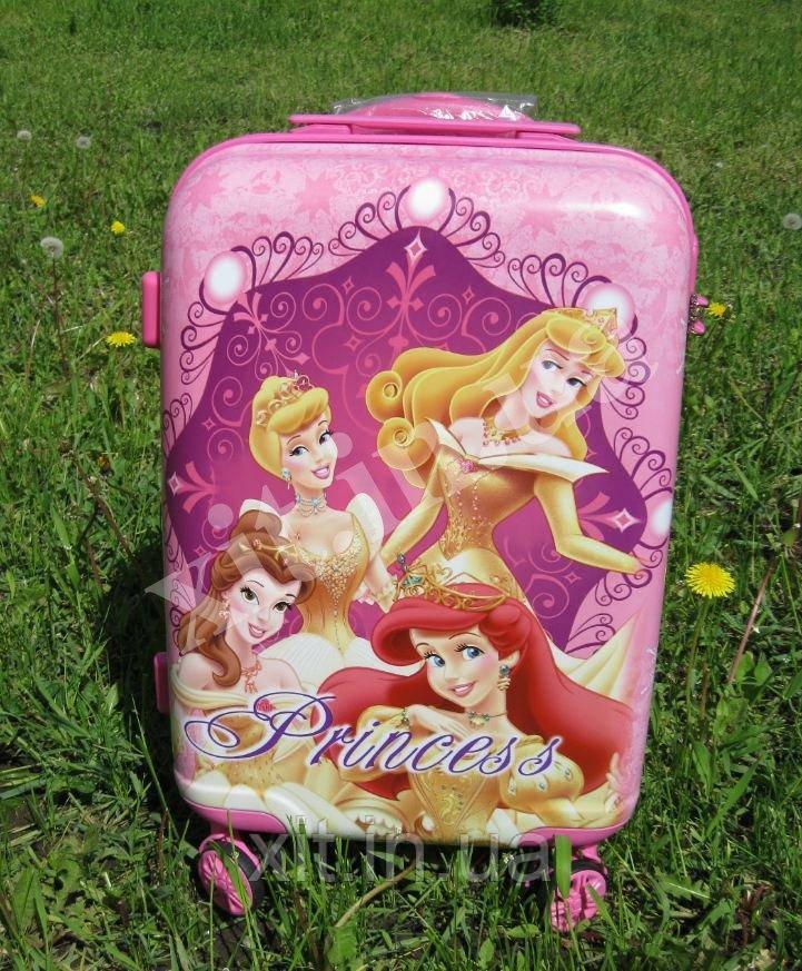 """Большой детский чемодан 20"""" на 4 колесах Принцессы"""