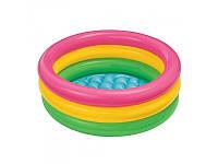 Детский надувной бассейн с надувным дном  Intex 58924 86х22см