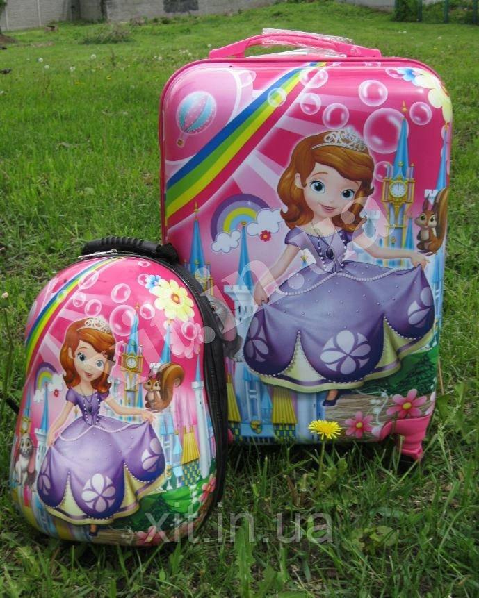 """Дорожный набор: чемодан 20"""" на колесах + рюкзак"""