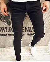 Черные мужские  джинсы стрейчевые  пр-во Турция