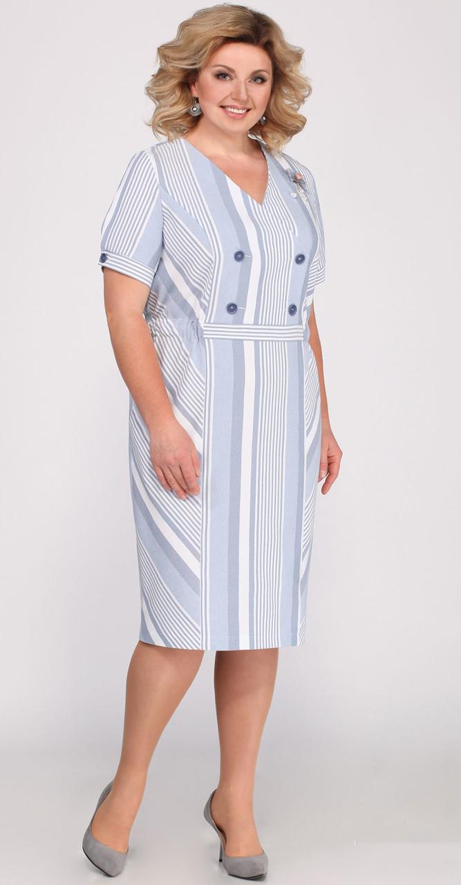Сукня Matini-31285 білоруський трикотаж, блакитний, 52