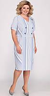 Сукня Matini-31285 білоруський трикотаж, блакитний, 52, фото 1