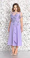 Платье Mira Fashion-4636 белорусский трикотаж, бледно-сиреневый, 50