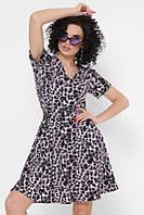 Женское расклешенное леопардовое платье (Annik fup)