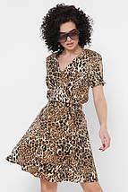 Женское расклешенное леопардовое платье (Annik fup), фото 2