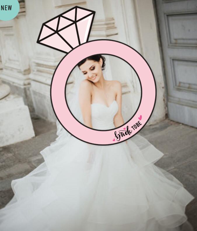 """Рамка у вигляді кільця для фотосесії """"Bride to be!"""""""
