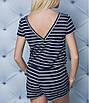 Женский летний комбинезон большие размеры, размер 52-54, 56-58, темно-синий, голубой, фото 4