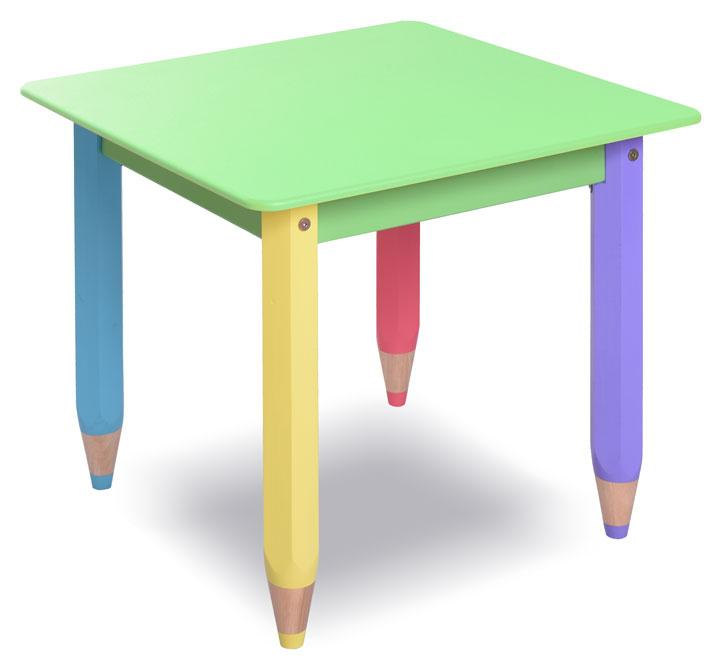 """Дитячий столик парта для творчості """"Олівчик"""" 60*60 з пеналом (колір стільниці - салатовий)"""