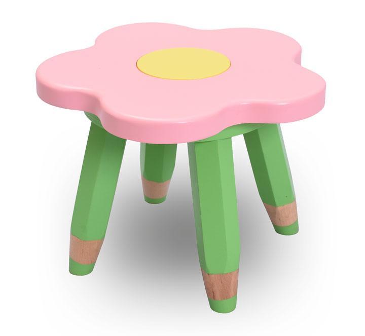 """Детский стульчик без спинки, табурет ясельный """"Ромашка"""" (цвет - розовый)"""