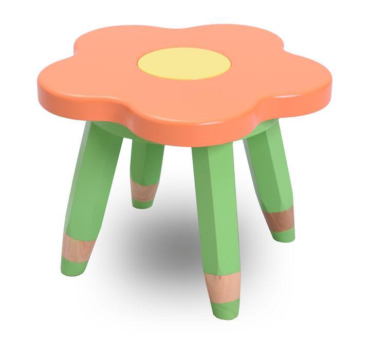 """Детский стульчик без спинки, табурет ясельный """"Ромашка"""" (цвет - оранжевый)"""