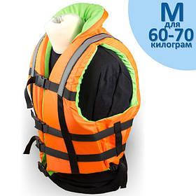 """Страховочный жилет """"Glisser"""" с воротником размер """"M"""" от 60 до 70 кг."""