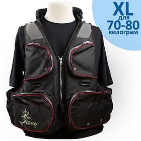 """Страховочный жилет """"Glisser"""" Premium Black """"Shimano"""" размер """"XL"""" от 70 до 80 кг."""