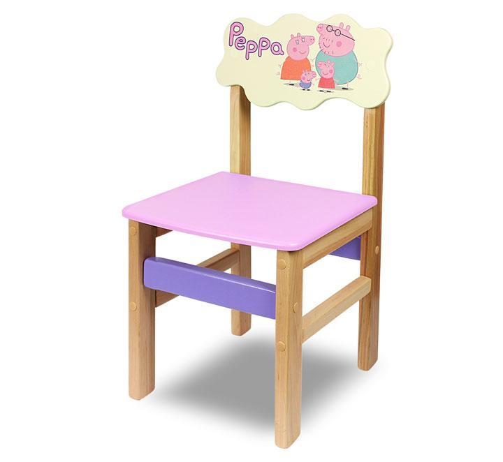 """Стульчик детский, деревянный серии  """"Woody"""" семейка Peppa (цвет - розовый)"""