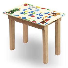 """Детский игровой  столик парта """"Woody"""" 60 х 40 с картинкой Ниндзяги (с пеналом)"""
