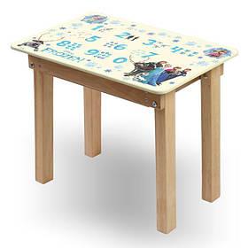 """Детский игровой  столик парта """"Woody"""" 60 х 40 с картинкой Холодное сердце (с пеналом)"""