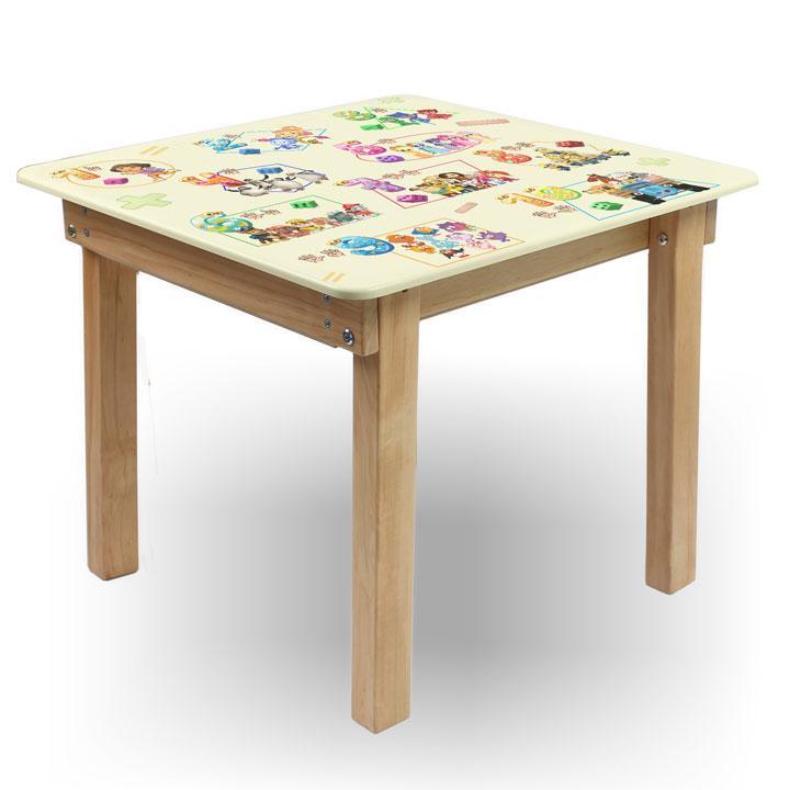 """Детский игровой  столик парта """"Woody"""" 60 х 60 с картинкой Математика (с пеналом)"""
