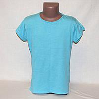 Голубая футболка для девочки In Extenso р.134-140 на 9-10 лет