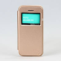 Чехол-книжка Flip Cover для iphone 5/5s Totu Design Gold