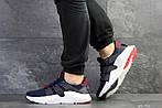 Мужские кроссовки Adidas (темно-синие с белым), фото 2