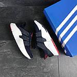 Мужские кроссовки Adidas (темно-синие с белым), фото 5