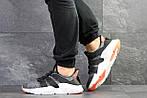 Мужские кроссовки Adidas (серо-белые с оранжевым), фото 2