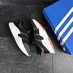 Мужские кроссовки Adidas (серо-белые с оранжевым), фото 4