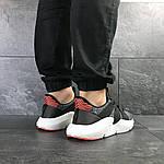 Мужские кроссовки Adidas (серо-белые с оранжевым), фото 5