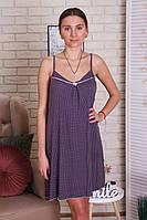 Платье  из вискозы в мелкий горошек  для сна и дома, фото 1