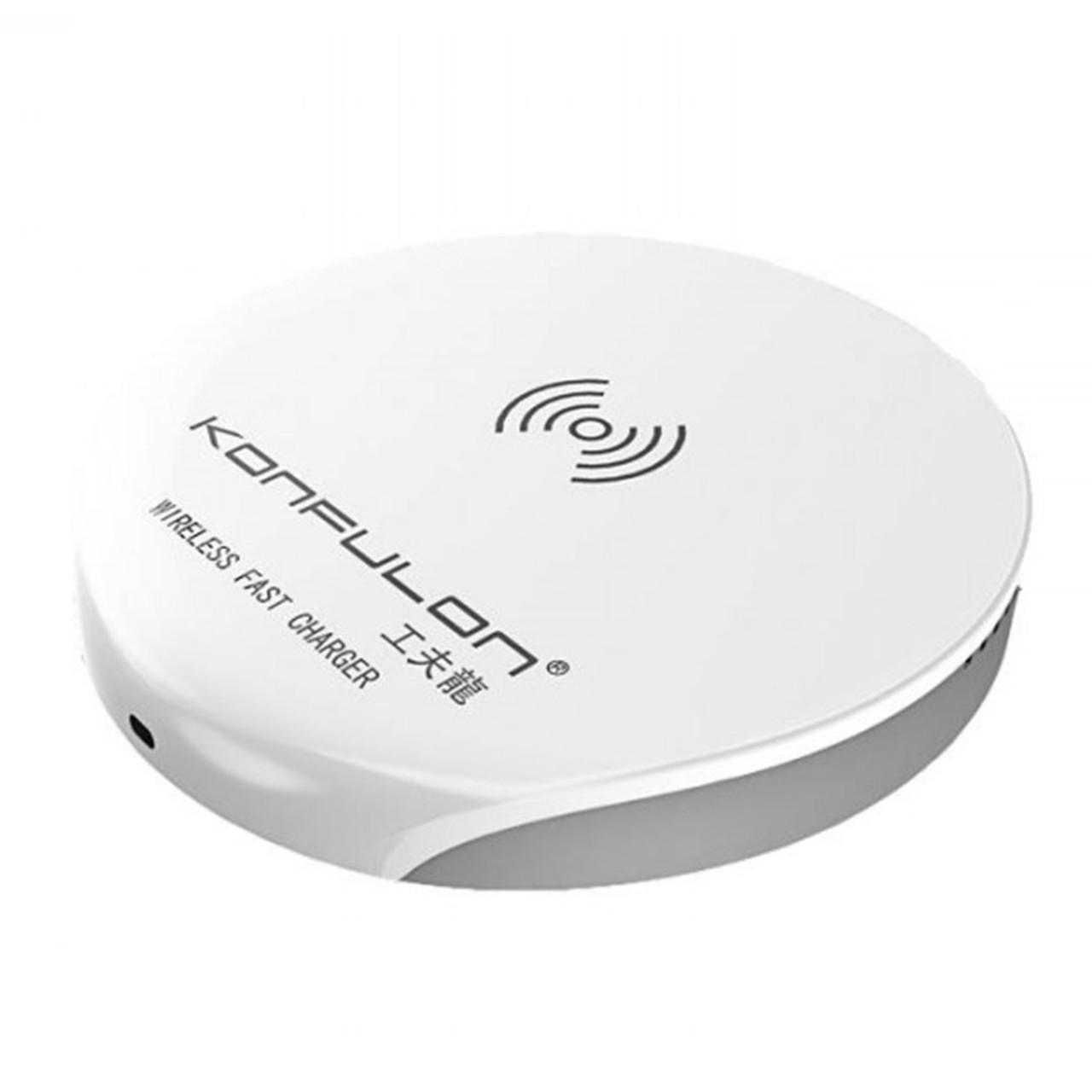 Беспроводное зарядное Konfulon Q2 Round White