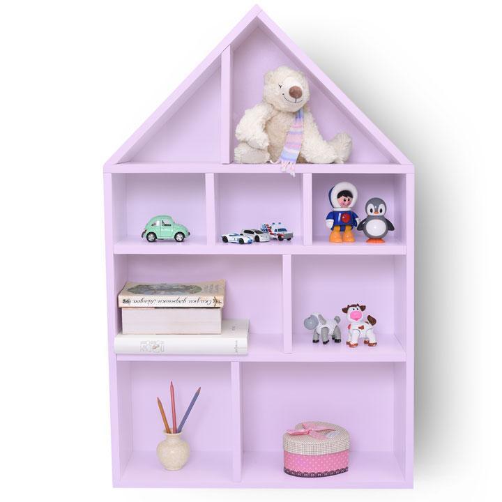 """Детский стеллаж - полка """"Кукольный домик"""" розовый"""