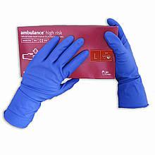Перчатки латексные нестерильные, медицинские, неопудренные Ambulance PF, размер — L, уп. — 25 пар