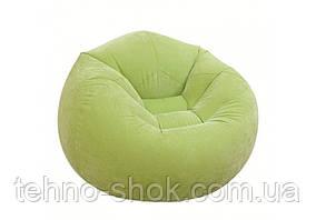 Надувное кресло INTEX 68569,  107х104х69 см зеленое