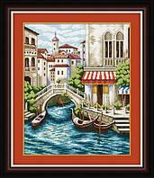 """"""" Венеция"""" LasKo. Наборы для рисования камнями (на холсте)."""