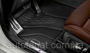 Комплект оригинальных ковриков салона для BMW X5 (G05) черные (51472458551 / 51472458552)