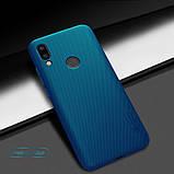 Nillkin Xiaomi Redmi Note 7/ Note 7 Pro Super Frosted Shield Peacock blue Чехол Накладка Бампер, фото 3