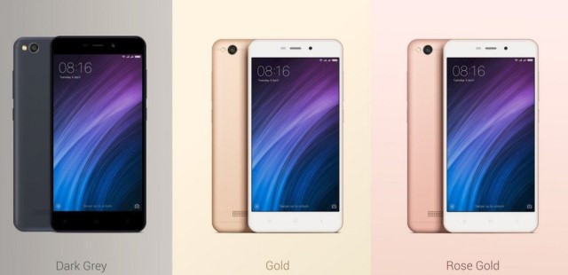 Xiaomi Redmi 4A 2/32Gb Gold Global - изысканный внешний вид