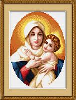 """Мадонна с младенцем"" LasKo. Наборы для рисования камнями (на холсте)."