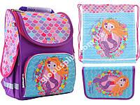 """Набор рюкзак ортопедический каркасный + сумка для обуви + пенал «Smart» PG-11 """"Mermaid"""" 555934-1, фото 1"""