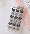 Чохол накладка силікон 3D CLEAR HEART iPhone 7/8 - срібло, фото 2