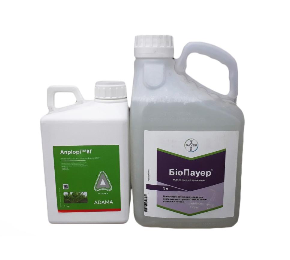 Набор гербицид Априори ADAMA - 1 кг. + ПАВ Биопауер ADAMA - 5 л.