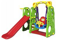 Детская игровая площадка 3в1 - горка/качели/баскетбол