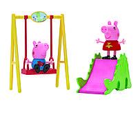 Игровой набор Peppa - ПАРК РАЗВЛЕЧЕНИЙ (качели, горка, 2 фигурки), фото 1