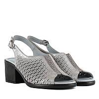 Босоножки женские PHANY (кожаные, на каблуке, стильные, нежного цвета)