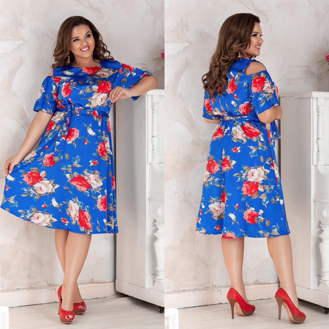 0268f2eeb28 Летнее шелковое платье в цветочек